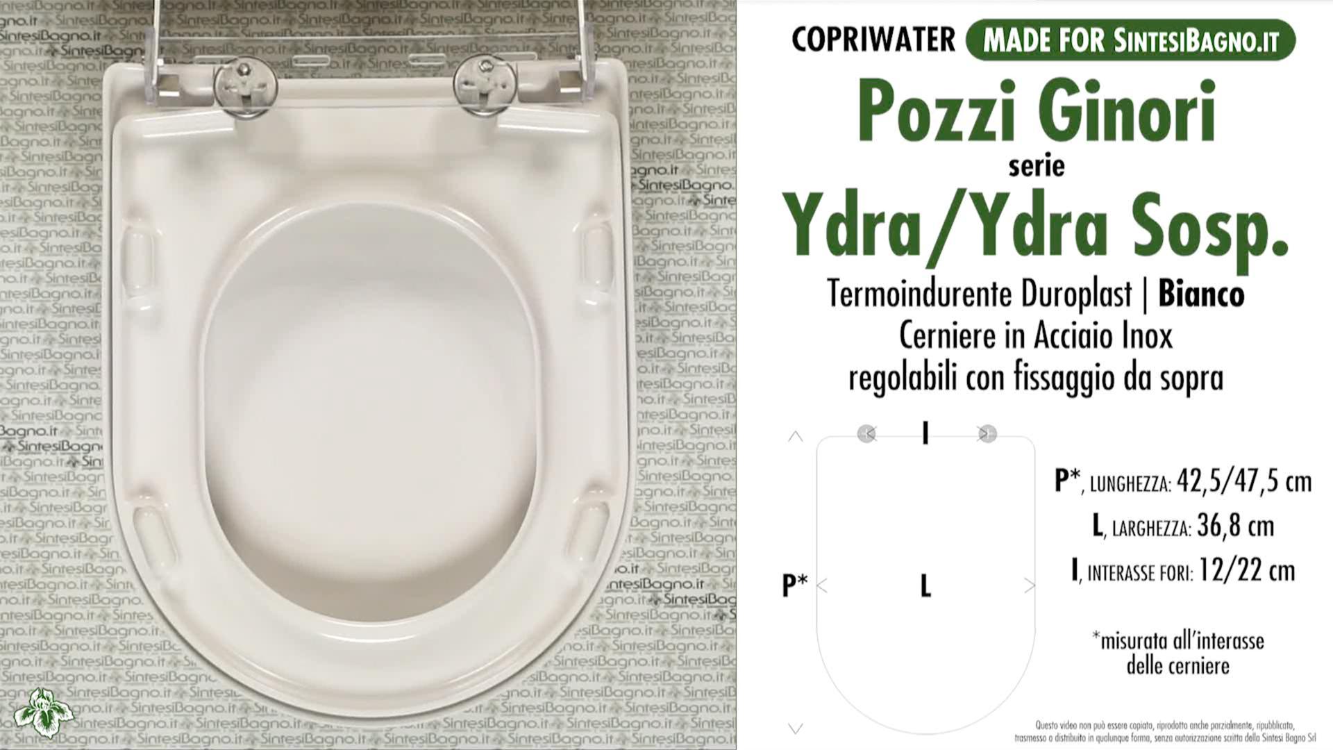 Copriwater dedicato vaso ydra ydra sospeso pozzi ginori for Cambiare tavoletta wc sospeso