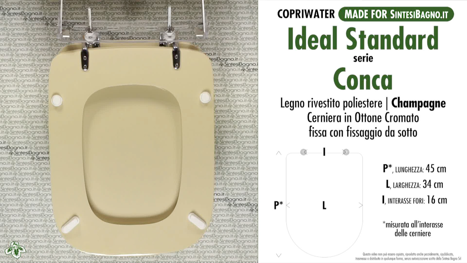 Wc seat sintesibagno made for ideal standard wc conca for Cuvette wc ideal standard