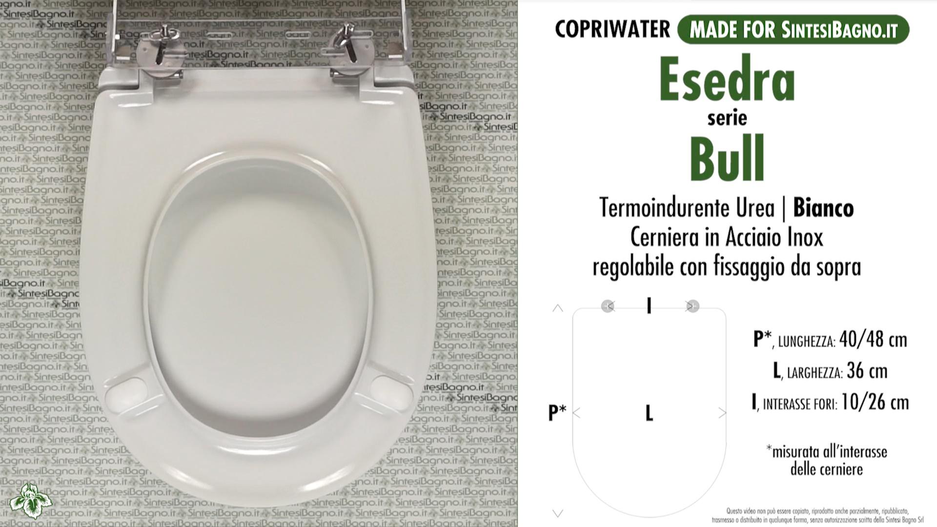 Copriwater per vaso bull esedra soft close for Esedra water