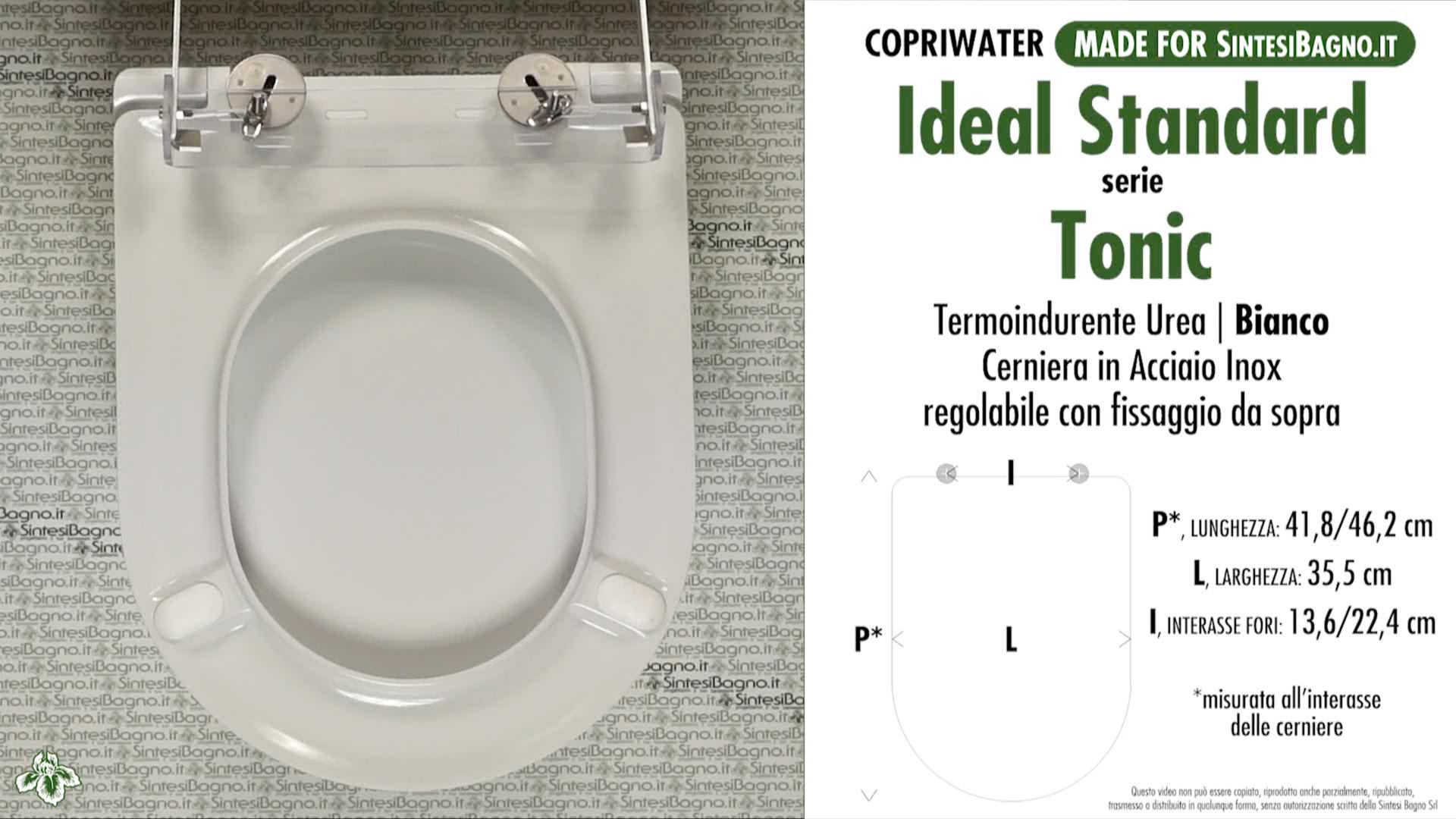 copriwater per vaso tonic ideal standard soft close. Black Bedroom Furniture Sets. Home Design Ideas