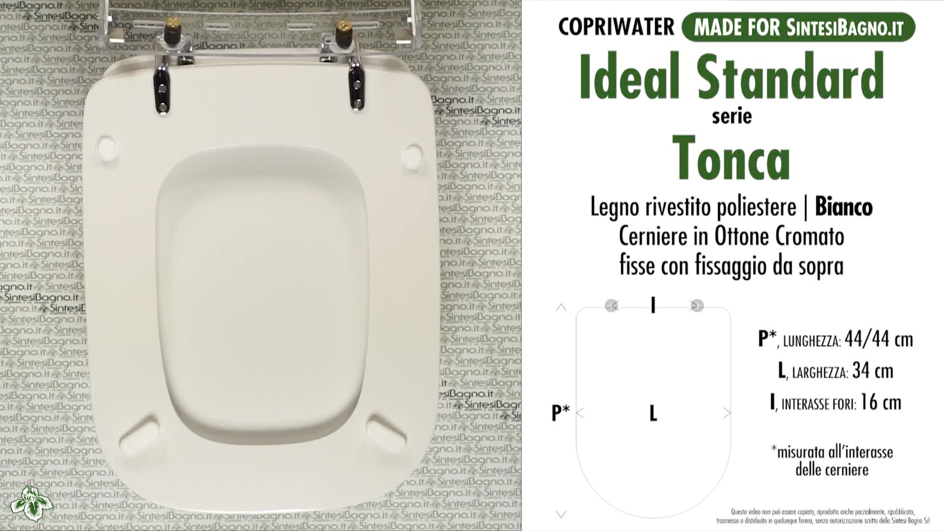 Wc sitz sintesibagno made f r ideal standard wc tonca for Lunette wc ideal standard