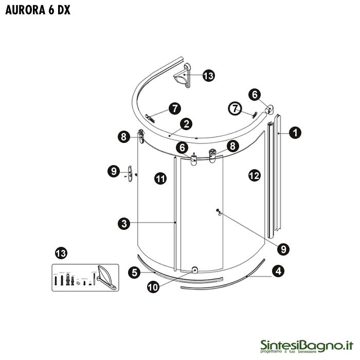 Novellini Box Doccia Ricambi.Aurora 6 7 Kit Carrucole Per Parete Sopravasca Novellini Modello