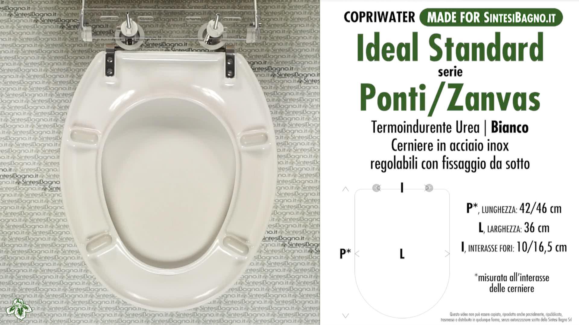 Copriwater Per Vaso Ideal Standard Serie Ponti Zanvas If3157 If3158
