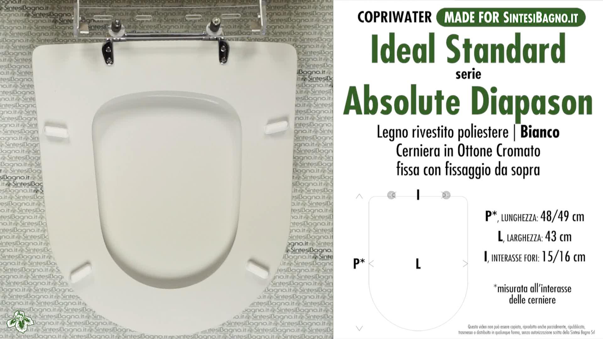 Copriwater Sedile Wc Absolute Dhiapason Ideal Standard