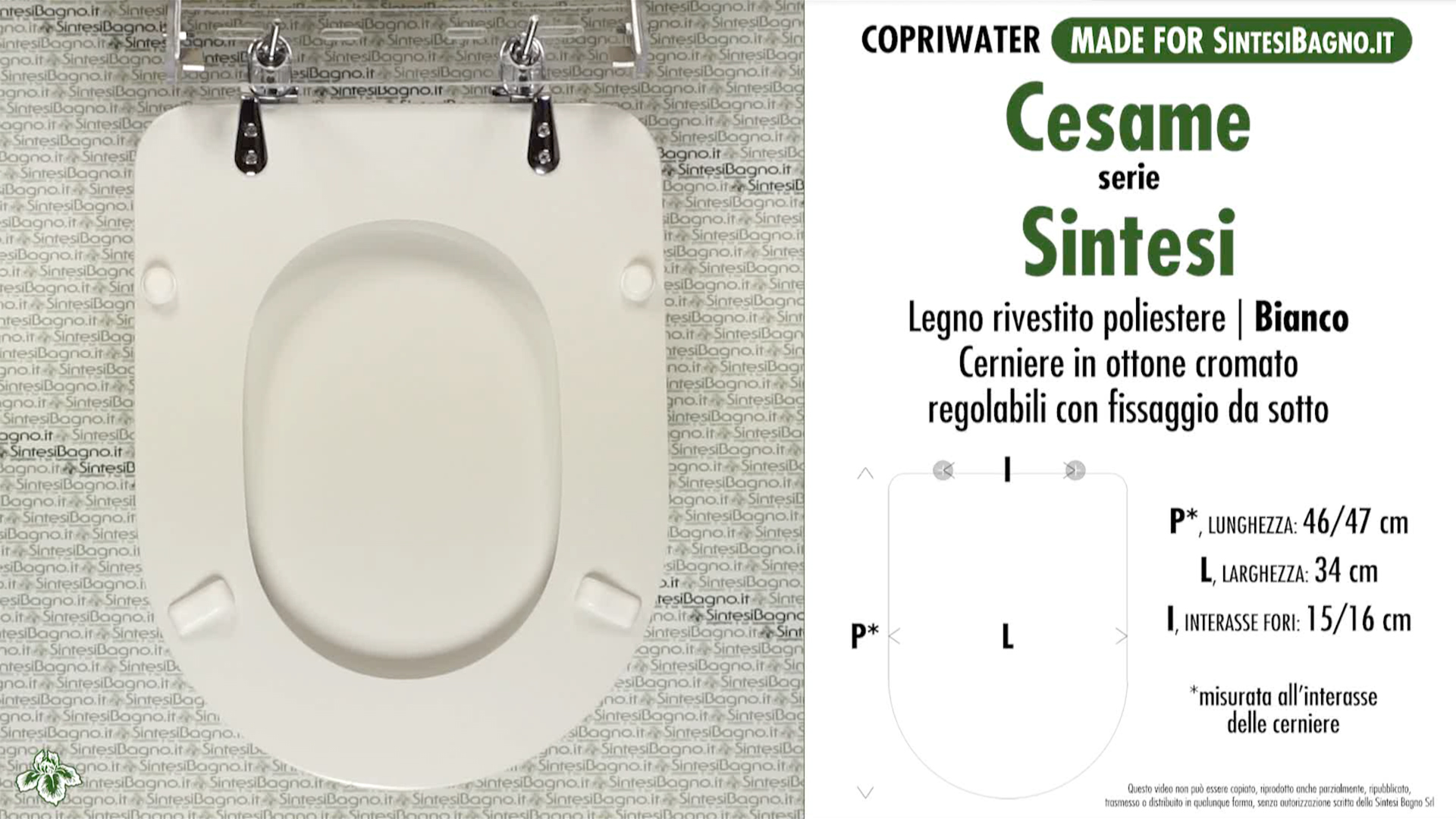 Details about Toilet Seat SintesiBagno MADE for Cesame WC SINTESI series.  DILSINSINTESI