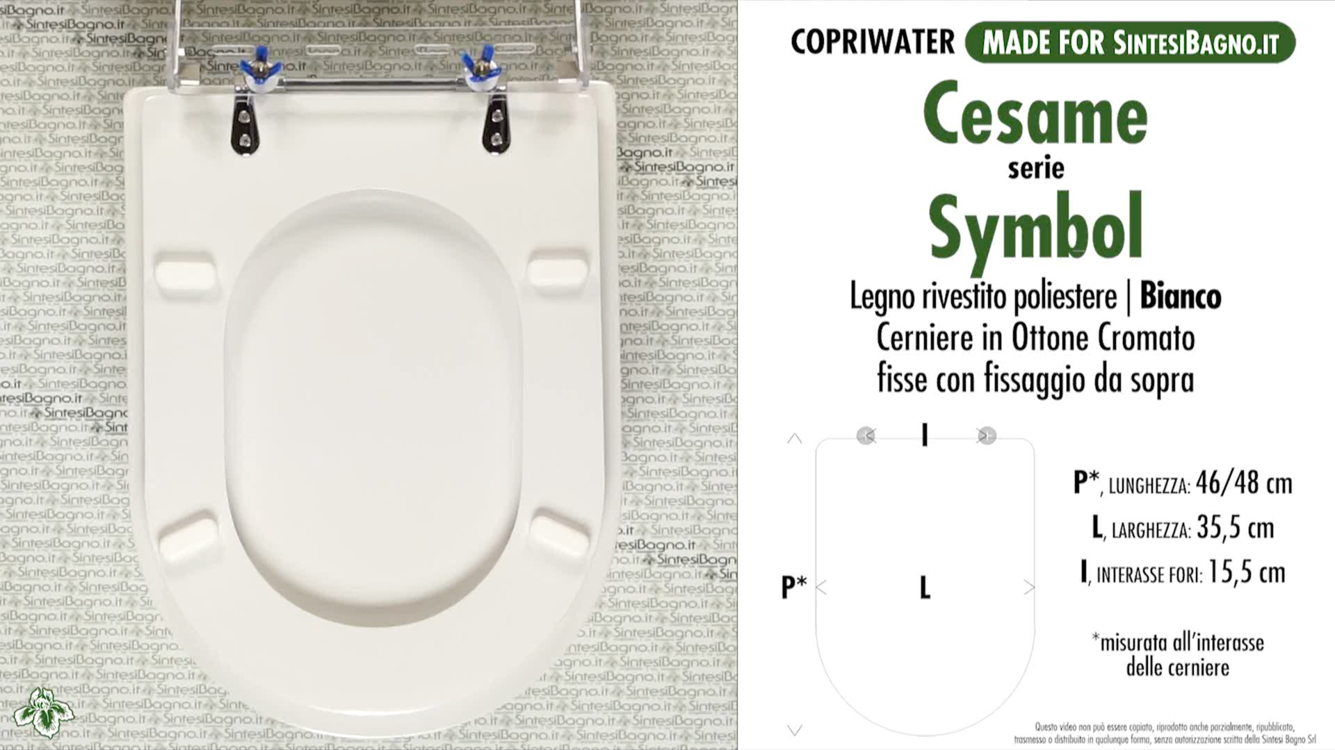Toilet Seat/WC-Seat SintesiBagno MADE for Cesame WC SYMBOL series ...