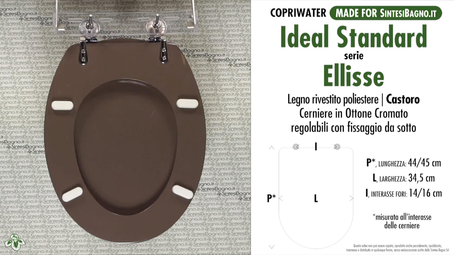 Copriwater Per Vaso Ellisse Ideal Standard Castoro