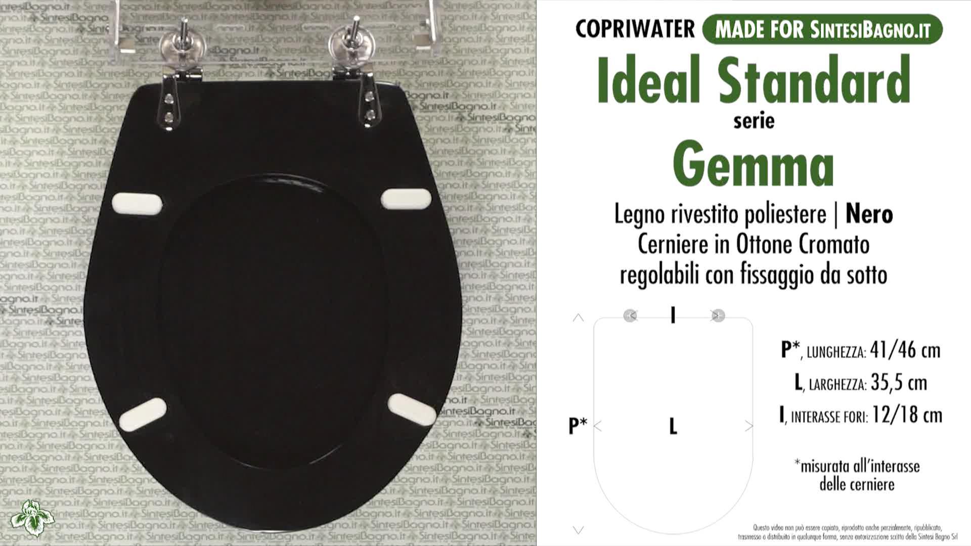 Copriwater Per Vaso Gemma Gemma Sospeso Ideal Standard