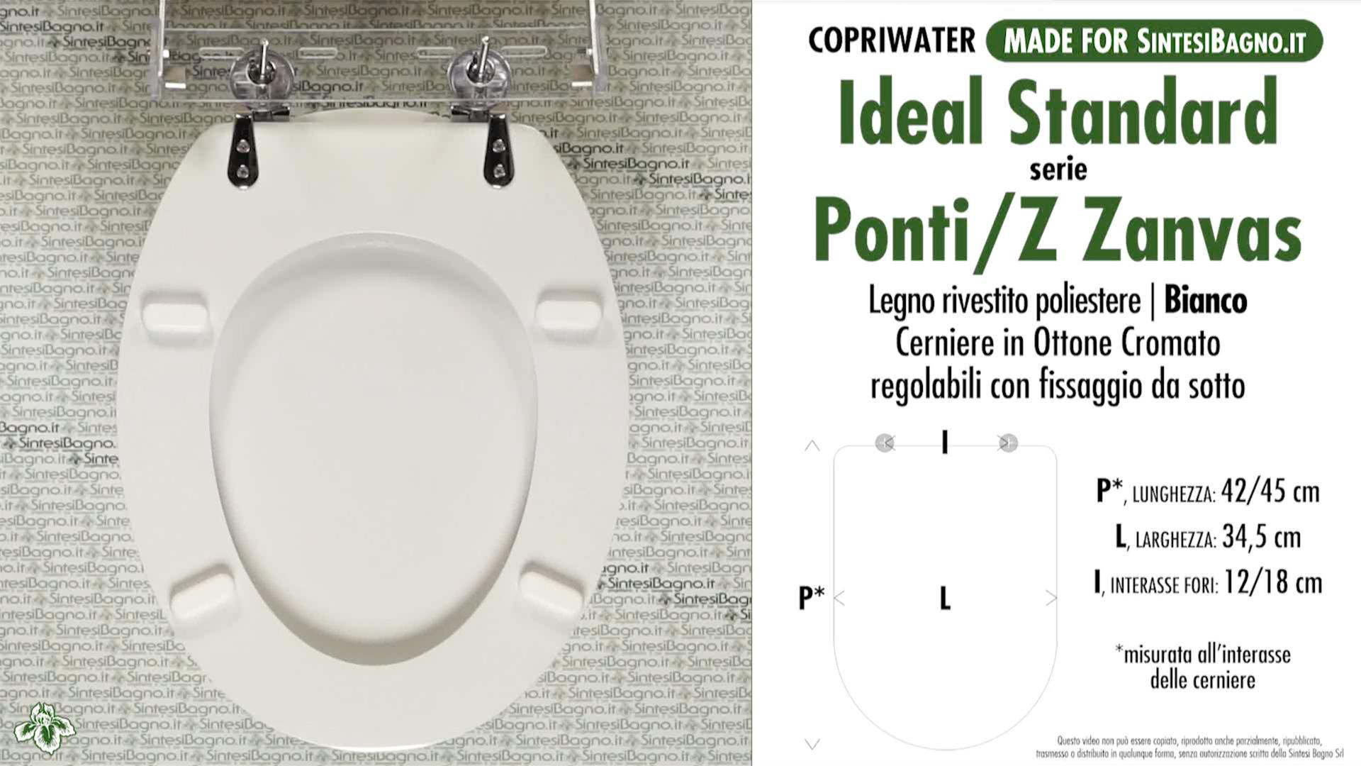 Copriwater Per Vaso Ponti Z Zanvas Ideal Standard Dilpontizeta Ebay
