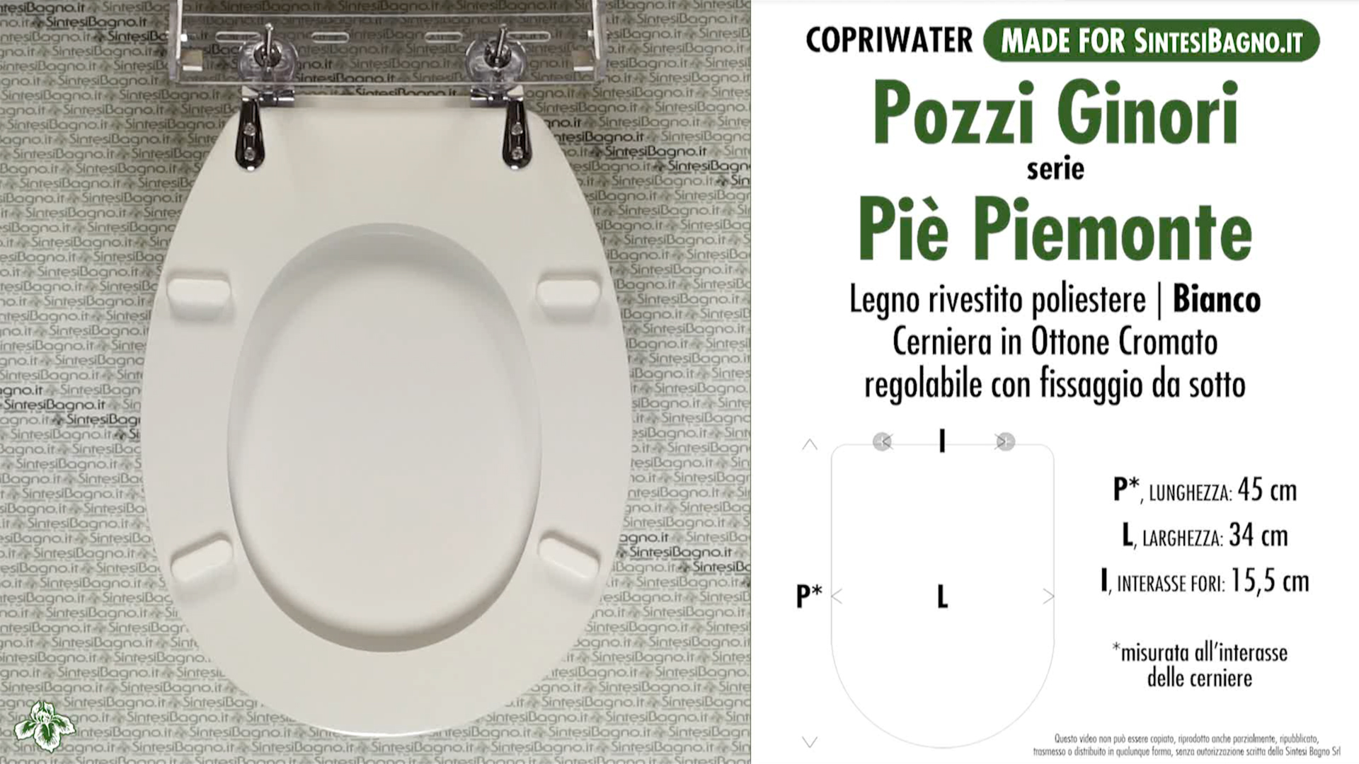 Details about WC Seat SintesiBagno MADE for Pozzi Ginori WC PIE\' PIEMONTE.  DILPIEPIEMONTE