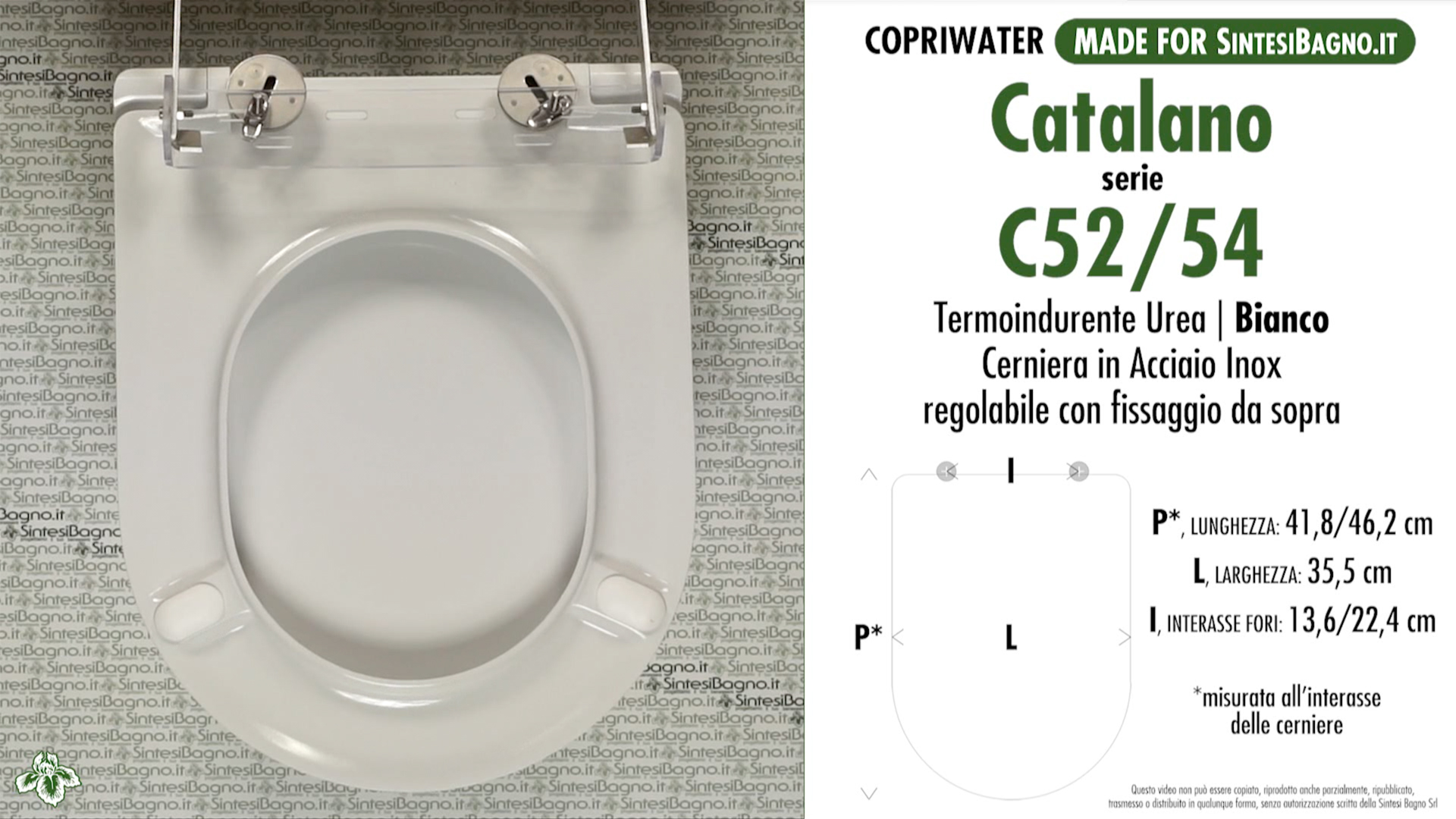 Details about Toilet Seat SintesiBagno MADE for Catalano WC C 52/54. SOFT  CLOSE. ICIEU700