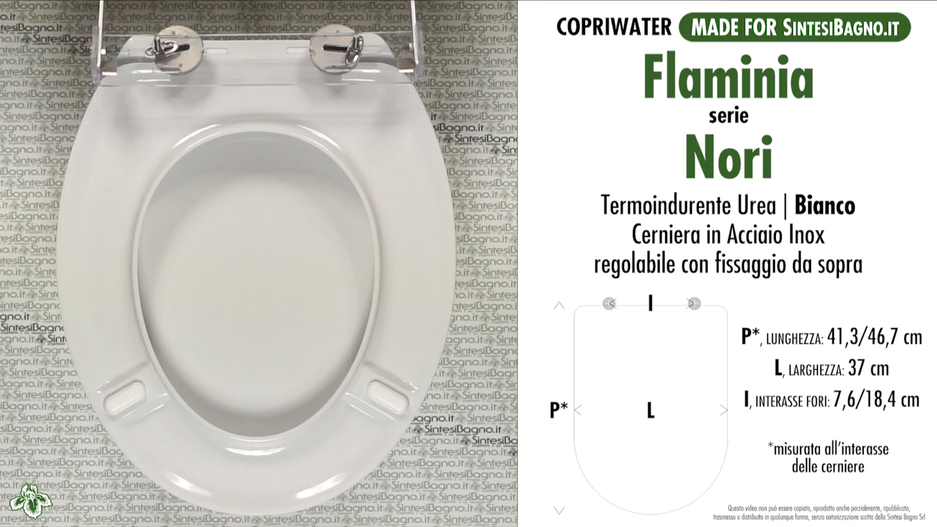 Toilet Seat SintesiBagno MADE for Flaminia WC NORI series. SOFT ...