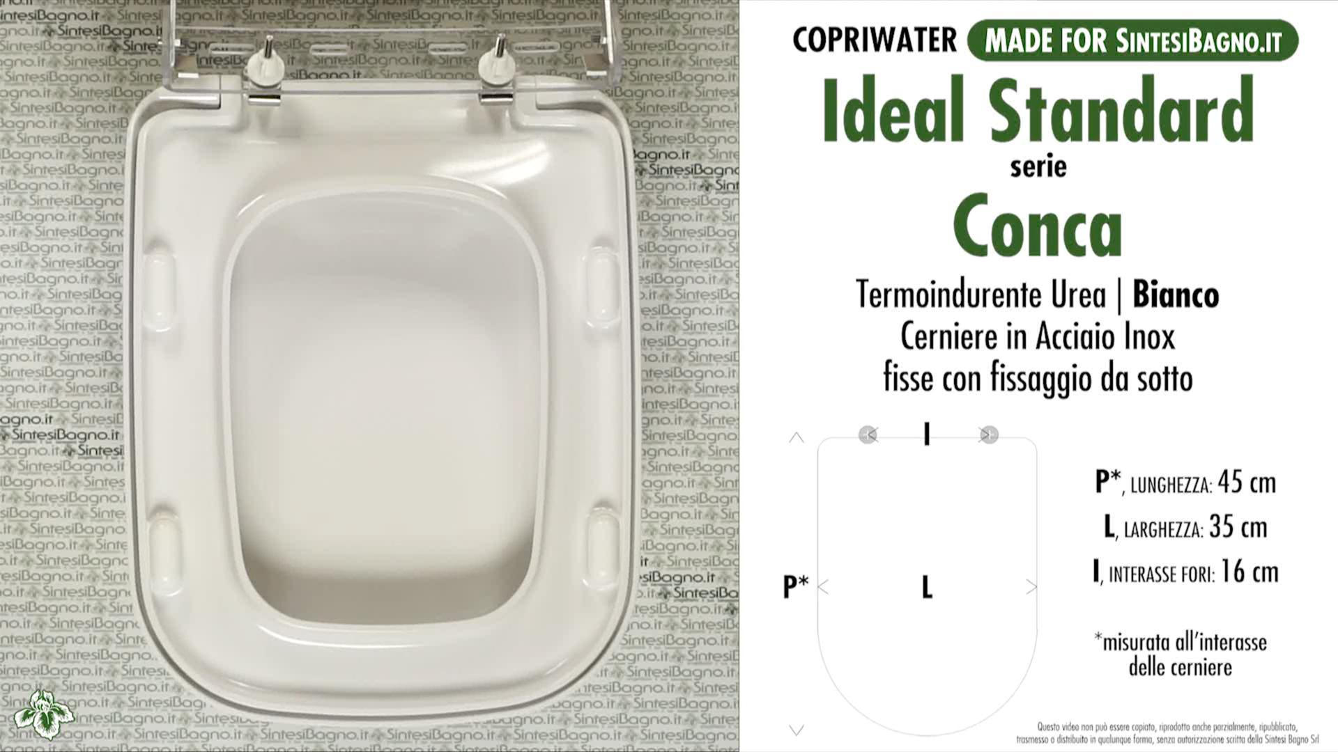 Copriwater per vaso ideal standard serie conca tipo for Copriwater conca ideal standard originale