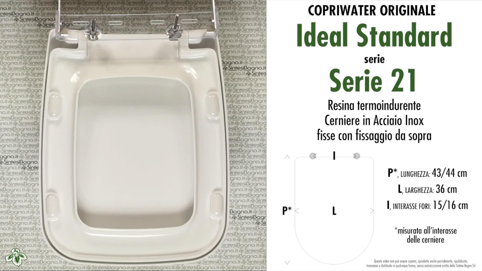 Copriwater Sedile Wc Serie 21 Ideal Standard Tipo Originale