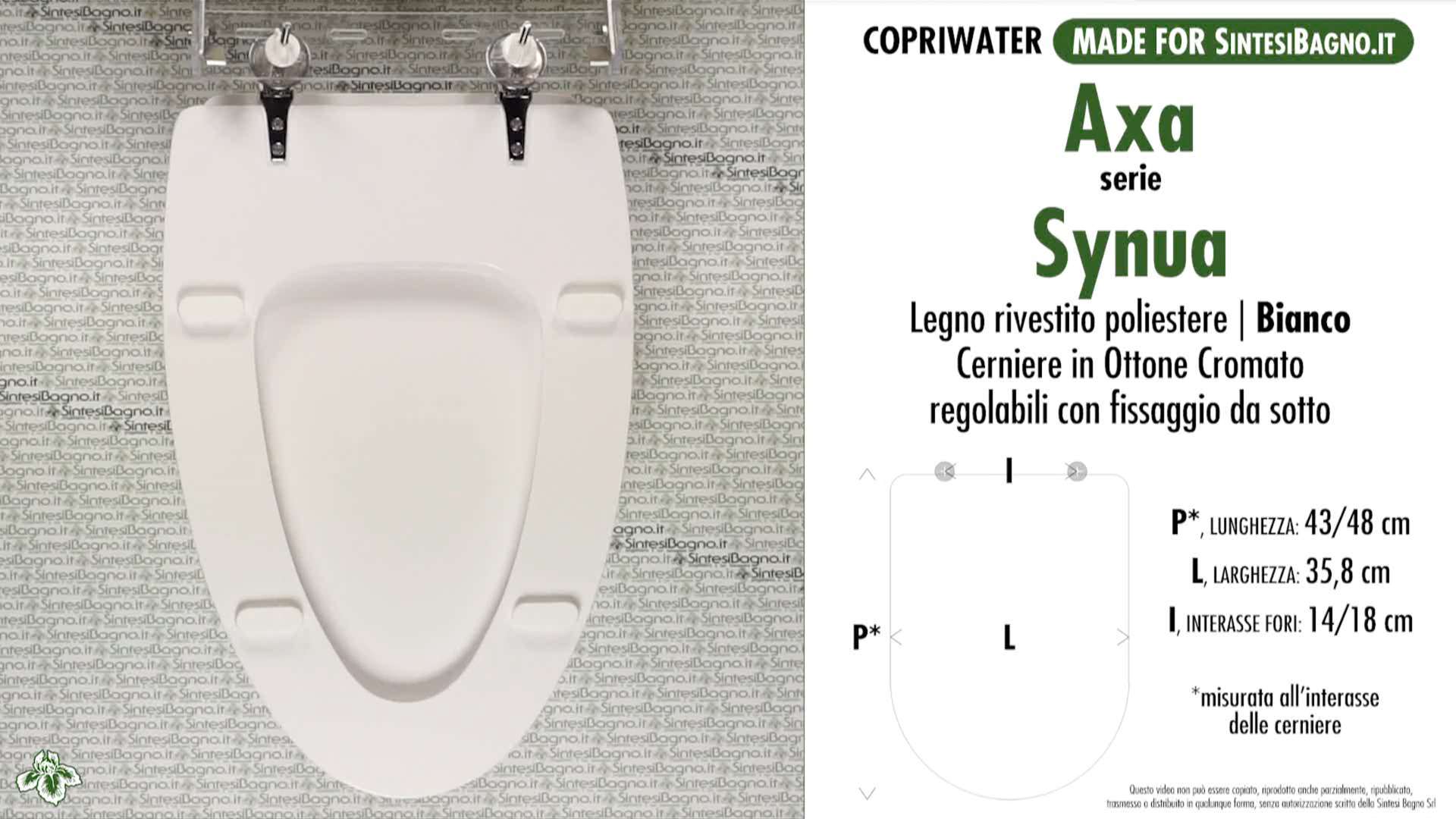 Toilet Seat/WC-Seat SintesiBagno MADE for Axa WC SYNUA series ...