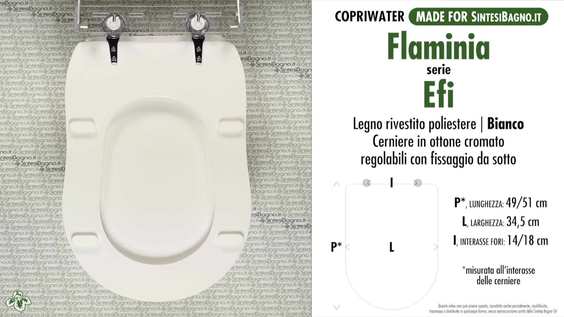 Details about Toilet Seat/WC-Seat SintesiBagno MADE for Flaminia WC EFI  series. MAM18901BI