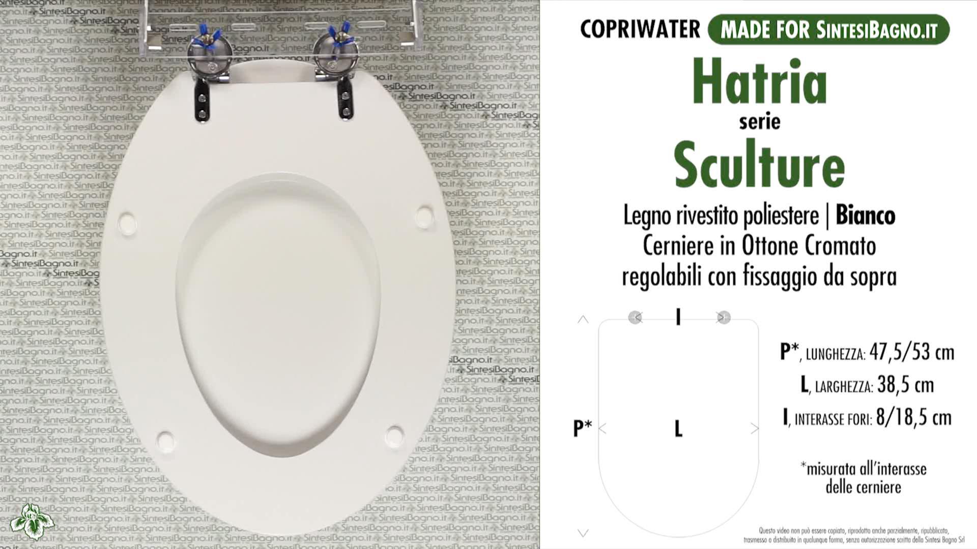 Toilet Seat SintesiBagno MADE for Hatria WC SCULTURE series ...