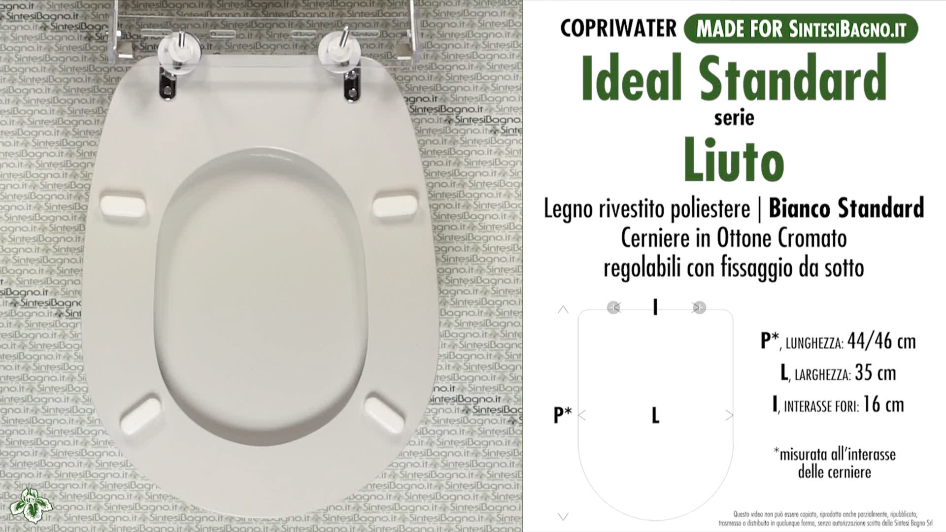 Details about Toilet Seat SintesiBagno MADE for Ideal Standard WC LIUTO  serie. OVALIBSED0130BS