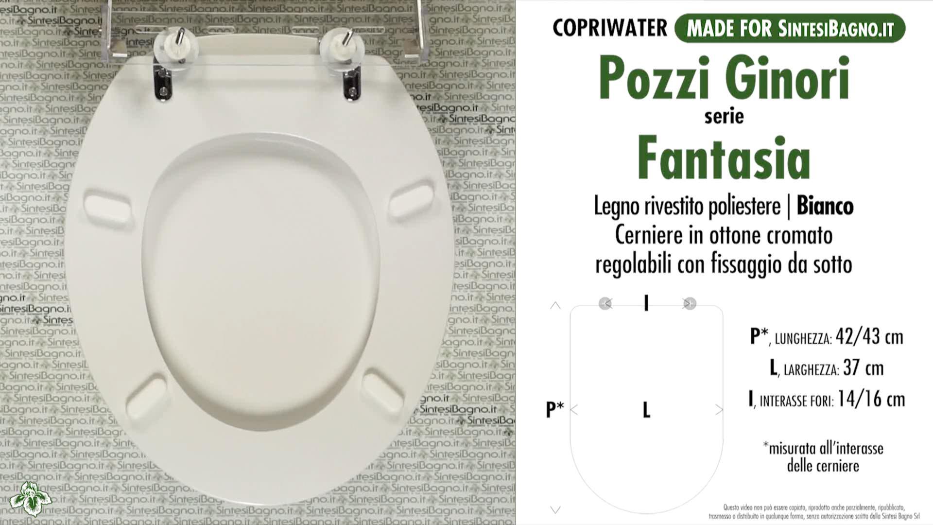 WC Seat SintesiBagno MADE for Pozzi Ginori WC FANTASIAseries ...