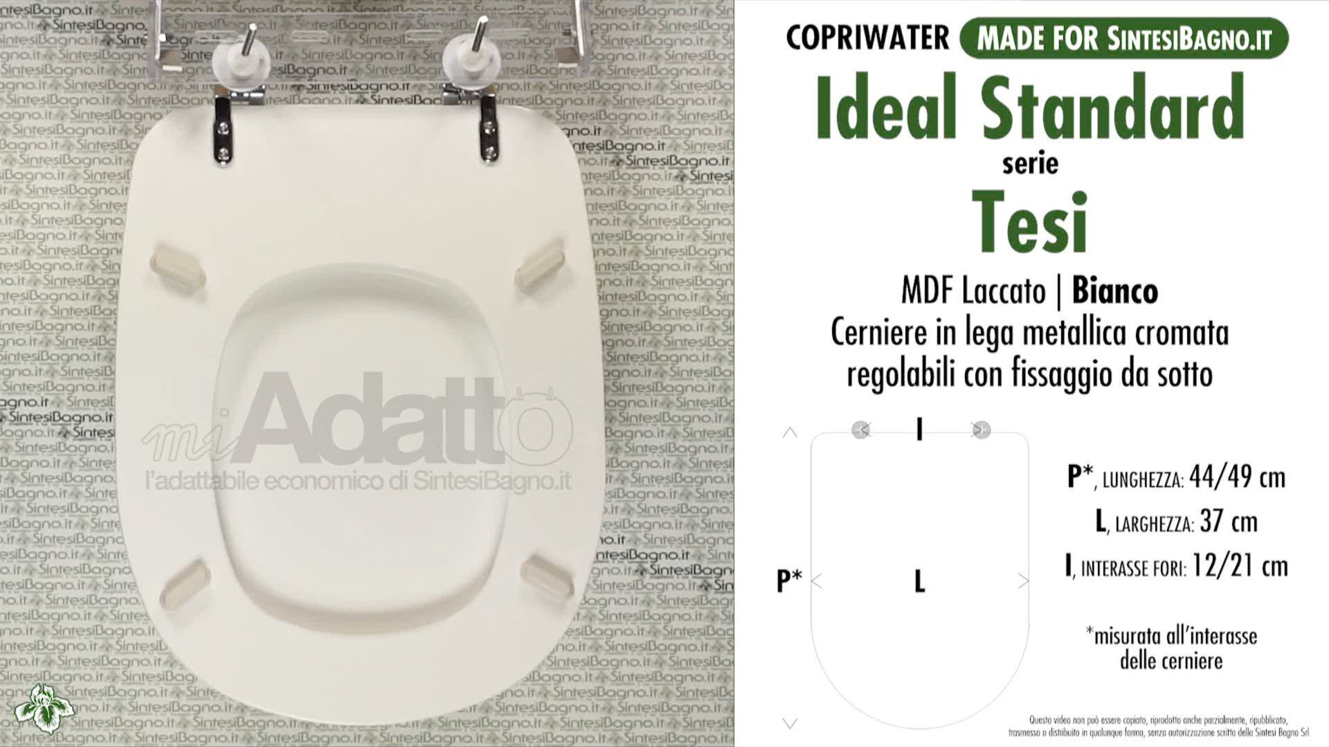 Copriwater per wc tesi ideal standard bianco tipo for Ideal standard tesi sospesi scheda tecnica